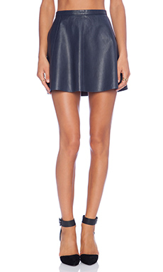 LOVE LEATHER The Legs Legs Legs Skirt in The Navy
