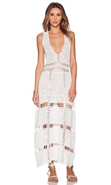 Lisa Maree The Darkest Deep Maxi Dress in White