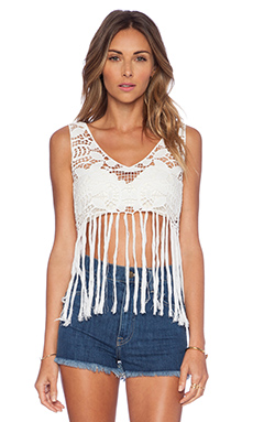 Lisa Maree Midnight Mornings Crop Top in White