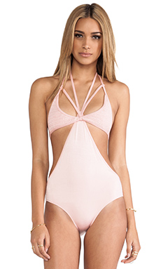 Lisa Maree Twice Shy One Piece in Salmon Bisque