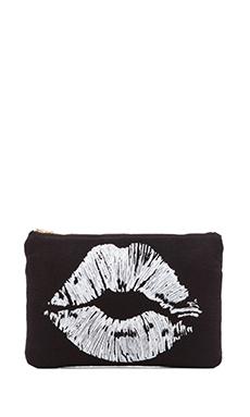 Lauren Moshi Lips Ipad Clutch in Black