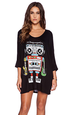 Lauren Moshi Milly Boombox 3/4 SLV Oversized Dress in Black