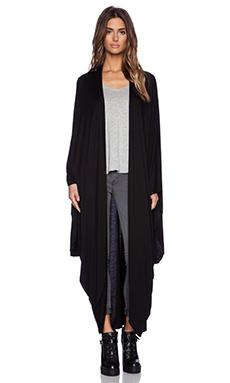 Lauren Moshi Eloise Star & Moon Long Draped Cardigan in Black