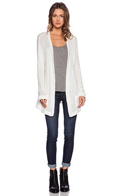 Lauren Moshi Clara Oversized PIns Sweater Cardigan in Natural