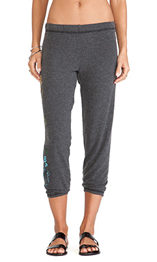 Lauren Moshi Alana Grateful Dead Skeleton Leg Sweatpants in Black