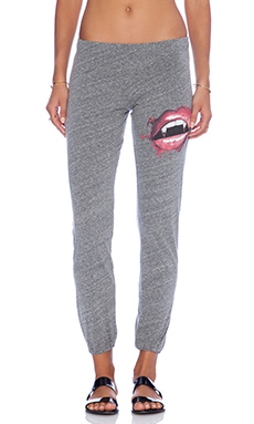 Lauren Moshi Jazzy Jersey Sweatpant in Heather Grey