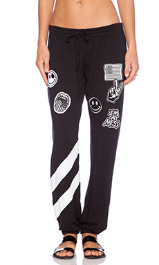 Lauren Moshi Frances Sweatpant in Black & White