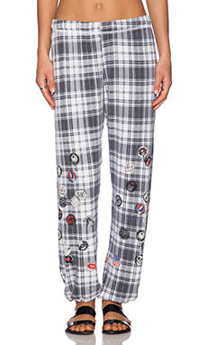 Lauren Moshi Tanzy Sweats in White Plaid