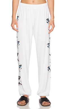 Lauren Moshi White Tiger Tanzy Sweatpant in White