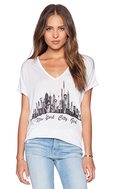 Lauren Moshi NYC Skyline April Tee in White