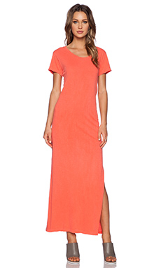LNA T Shirt Maxi Dress in Spring Coral