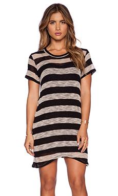 LNA Doheny Dress in Tan & Black