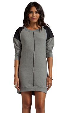 LNA Cyd Sweater Dress in Heather Grey/Black