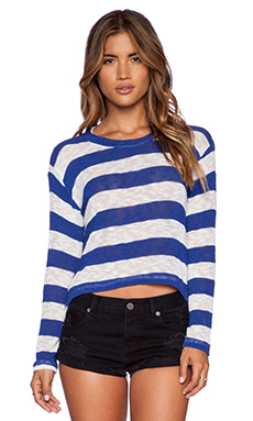 LNA Ash Sweater in Royal & Ivory
