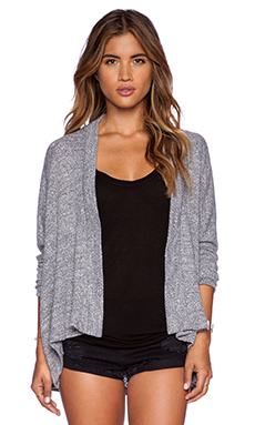 LNA La Costa Cardigan in Heather Black