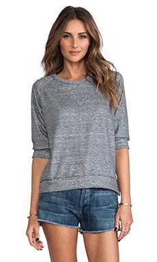 LNA 3/4 Terry Sweatshirt in Heather Grey