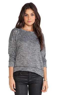 LNA Morrocco Sweatshirt in Black Marble