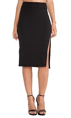 LNA April Slit Skirt in Black