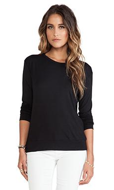 LNA Hayden Long Sleeve Top in Black