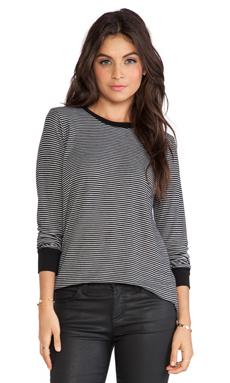 LNA Beaumont Thermal in Black & Grey Stripe