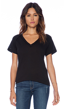 LNA Inside Out Tee in Black