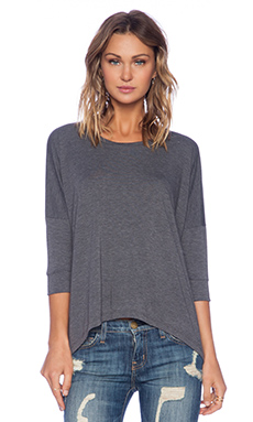 LNA Colette Top in Dark Heather Grey