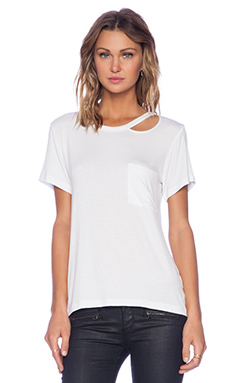 LNA Twin Palms Tee in White