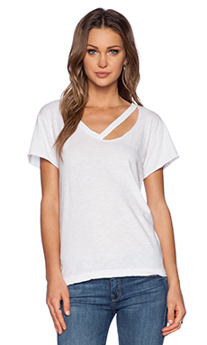 LNA Fallon V Neck Tee in White