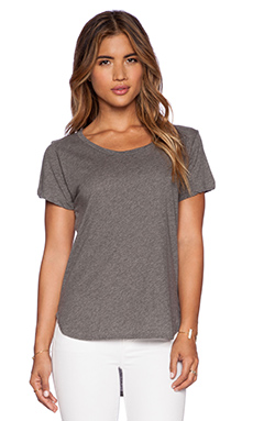 LNA Crescent Tee in Heather Grey
