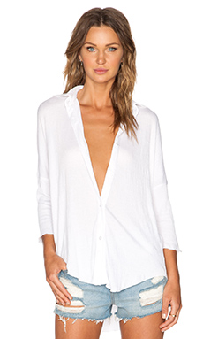 LNA Dolman Button Up in White