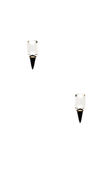 Lionette by Noa Sade Gali Earring in Clear & Black