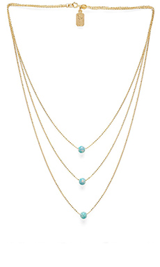 Lionette by Noa Sade Solar Necklace in Baby Green