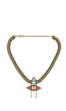 Lionette by Noa Sade Alia Necklace in Baby Green