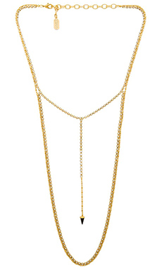 Lionette by Noa Sade Claire Necklace in Gold & Black