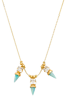 Lionette by Noa Sade Nairobi Necklace in Blue Green