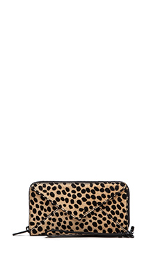 Loeffler Randall Zip Wallet in Cheetah