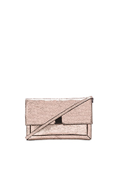 Loeffler Randall Foldover Clutch in Rose Gold