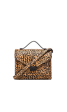 Loeffler Randall Medium Rider Crossbody Bag in Cheetah & Black