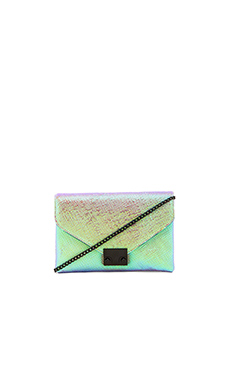 Loeffler Randall Jr. Lock Clutch in Pearl