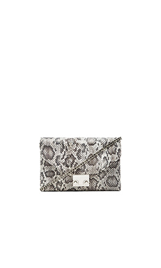 Loeffler Randall Jr. Lock Clutch in Creamgrey