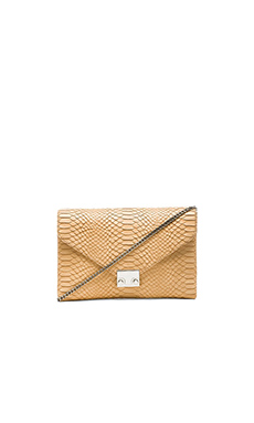 Loeffler Randall Lock Clutch in Nude