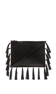 Loeffler Randall Large Pouch in Black & Black