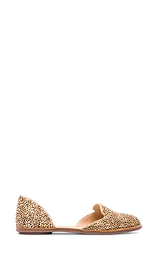 Loeffler Randall Prue Flat with Calf Fur in Mini Linx
