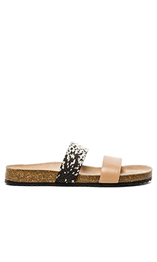 Loeffler Randall Paz Sandal in Wheat & Blackcream