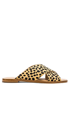 Loeffler Randall Echo Calf Hair Sandal in Cheetah