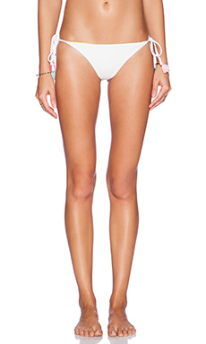 lolli swim Mojitos Bikini Bottom in White & Citron