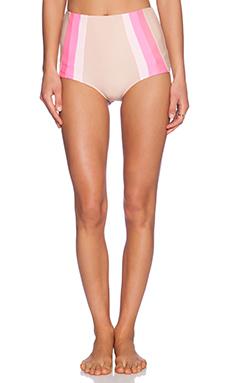 lolli swim Sky High Bikini Bottom in Nude & Pink
