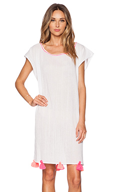 lolli swim Cover Up in White & Pink