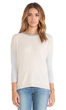 LOMA Brooke Cashmere Stripe Sweater in Wheat