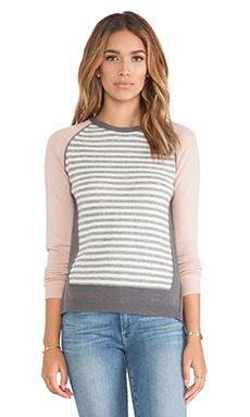 LOMA Andie Cashmere Stripe Sweater in Cement